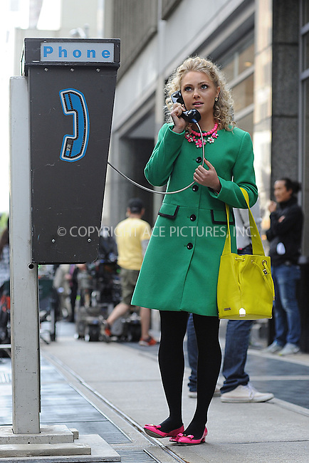 WWW.ACEPIXS.COM<br /> October 8, 2013...New York City<br /> <br /> AnnaSophia Robb on set of The Carrie Diaries in Midtown on October 8, 2013<br /> <br /> Byline: Kristin Callahan/Ace Pictures<br /> <br /> ACE Pictures, Inc.<br /> tel: 646 769 0430<br />       212 243 8787<br /> e-mail: info@acepixs.com<br /> web: http://www.acepixs.com