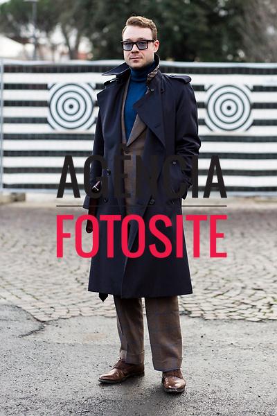 Florence Pitti Uomo Mens Fashion Week Street Style - January 10 2018 - Fall Winter 2018