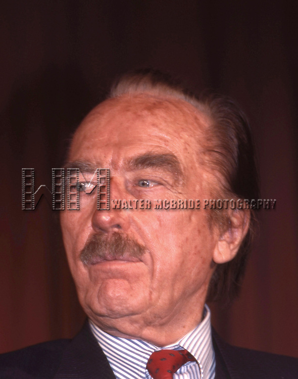 Fred Trump at The Plaza Hotel on December 1, 1988 in New York City.