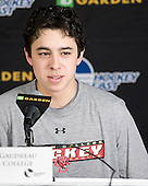 Johnny Gaudreau (BC - 13) - The Boston College Eagles defeated the Providence College Friars 4-2 in their Hockey East semi-final on Friday, March 16, 2012, at TD Garden in Boston, Massachusetts.