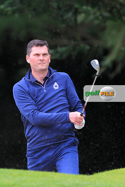 Andrew Morris (Portrush) on the 1st during the Ulster Final of the AIG Senior Cup at Belvoir Park Golf Club, Belfast, North Ireland. 20/08/2017<br /> Picture: Golffile | Thos Caffrey<br /> <br /> All photo usage must carry mandatory copyright credit     (&copy; Golffile | Thos Caffrey)