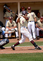 Boston College Eagles OF Robbie Anston in action vs. NC Tar Heels at Shea Field March 28, 2009 in Chestnut Hill, MA (Photo by Ken Babbitt/Four Seam Images)