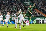 11.02.2018, Weserstadion, Bremen, GER, 1.FBL, SV Werder Bremen vs Vfl Wolfsburg<br /> <br /> im Bild<br /> Ludwig Augustinsson (Werder Bremen #5) trifft per Kopfball zum 1:0, <br /> <br /> Foto &copy; nordphoto / Ewert