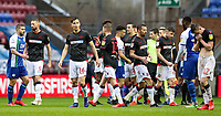 Bolton Wanderers' players react at the end of the match<br />