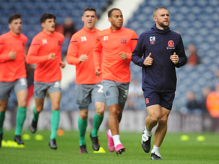 Blackburn Rovers Head of Athletic Performance Chris Rush during the pre-match warm-up <br /> <br /> Photographer Kevin Barnes/CameraSport<br /> <br /> The EFL Sky Bet Championship - West Bromwich Albion v Blackburn Rovers - Saturday 31st August 2019 - The Hawthorns - West Bromwich<br /> <br /> World Copyright © 2019 CameraSport. All rights reserved. 43 Linden Ave. Countesthorpe. Leicester. England. LE8 5PG - Tel: +44 (0) 116 277 4147 - admin@camerasport.com - www.camerasport.com