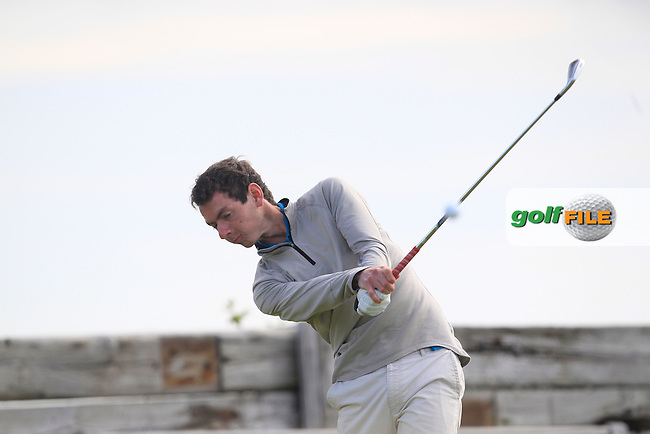 William Russell (Clandeboye) on the 6th tee during Round 2 of the North of Ireland Amateur Open Championship at Royal Portrush, Dunluce Course on Tuesday 14th July 2015.<br /> Picture:  Thos Caffrey / www.golffile.ie