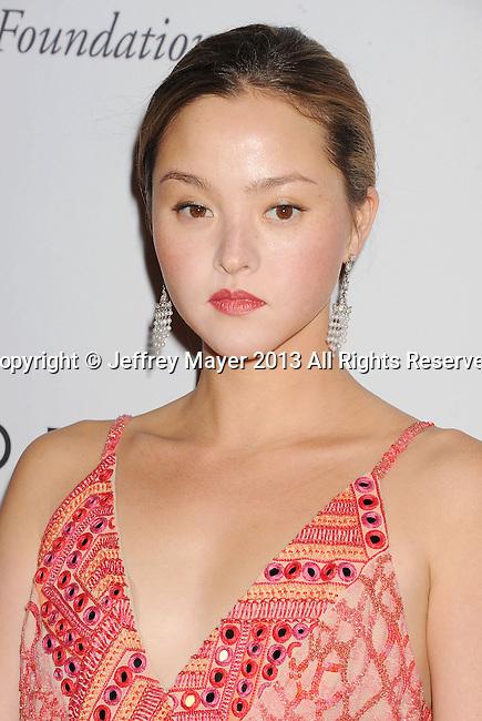 CULVER CITY, CA- NOVEMBER 09: Actress/model Devon Aoki  arrives at the 2nd Annual Baby2Baby Gala at The Book Bindery on November 9, 2013 in Culver City, California.