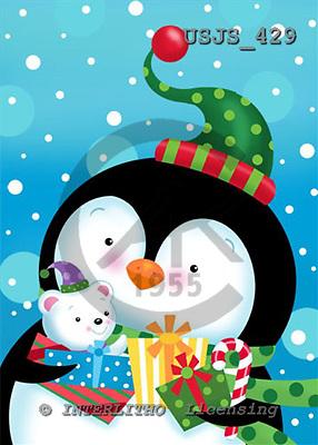 Janet, CHRISTMAS ANIMALS, paintings+++++,USJS429,#xa# Weihnachten, Navidad, illustrations, pinturas