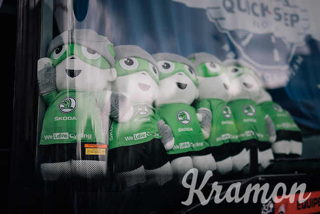 Team Quickstep Floors is the green team...<br /> <br /> 104th Tour de France 2017<br /> Stage 11 - Eymet &rsaquo; Pau (202km)