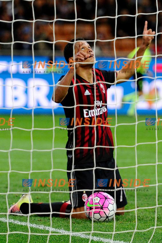 Esultanza gol di Carlos Bacca Milan 1-3. Celebration goal<br /> Milano 14-05-2016 Stadio Giuseppe Meazza - Football Calcio Serie A Milan - AS Roma. Foto Giuseppe Celeste / Insidefoto
