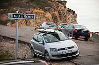 Nazare /Portugal (Sunday, October 21, 2012)  Garrett McNamara (HAW), Joao de Macedo (PRT) and Joel Parkinson (AUS) shared a tow in session at the site of the world's largest wave ever ridden, at Nazare today. -  Photo: joliphotos.com and Joel Parkinson (AUS) shared a tow in session at the site of the world's largest wave ever ridden, at Nazare today. -  Photo: joliphotos.com