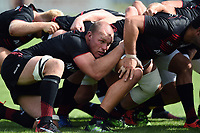 Schalk Burger of Saracens looks on at a scrum. Pre-season friendly match, between Bedford Blues and Saracens on August 19, 2017 at Goldington Road in Bedford, England. Photo by: Patrick Khachfe / Onside Images