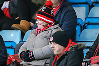 Fleetwood Town supporters during the Sky Bet League 1 match between Gillingham and Fleetwood Town at the MEMS Priestfield Stadium, Gillingham, England on 27 January 2018. Photo by David Horn.