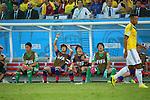 L to R) <br /> Shuichi Gonda, <br /> Hiroki Sakai, <br /> Gotoku Sakai, <br /> Shusaku Nishikawa (JPN), <br /> JUNE 24, 2014 - Football /Soccer : <br /> 2014 FIFA World Cup Brazil <br /> Group Match -Group C- <br /> between Japan 1-4 Colombia <br /> at Arena Pantanal, Cuiaba, Brazil. <br /> (Photo by YUTAKA/AFLO SPORT)