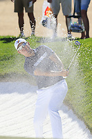 Byeong Hun An (KOR) chips from a bunker at the 6th green during Saturday's Round 3 of the Waste Management Phoenix Open 2018 held on the TPC Scottsdale Stadium Course, Scottsdale, Arizona, USA. 3rd February 2018.<br /> Picture: Eoin Clarke | Golffile<br /> <br /> <br /> All photos usage must carry mandatory copyright credit (&copy; Golffile | Eoin Clarke)