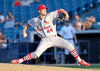 May 22, 2010 Pitcher Brett Zawacki  of the Palm Beach Cardinals, Florida State League Class-A affiliate of the St.Louis Cardinals, delivers a pitch during a game at George M. Steinbrenner Field in Tampa, FL. Photo by: Mark LoMoglio/Four Seam Images