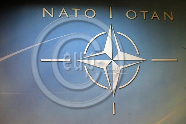 Belgium--Brussels---NATO     10.02.2003.Symbol of the Nato ;  . PHOTO: EUP-IMAGES.COM / ANNA-MARIA ROMANELLI