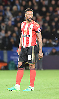 Jermain Defoe of Sunderland during the Premier League match between Leicester City v Sunderland played at King Power Stadium, Leicester on 4th April 2017.<br /> <br /> <br /> available via IPS Photo Agency only