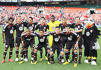 Starting eleven of D.C. United during an MLS match against Chivas USA at RFK Stadium, on May 29 2010 in Washington DC. United won 3-2.