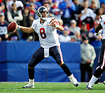 1 November 2009: Houston Texans' quarterback Matt Schaub looks downfield to pass during a game against the Buffalo Bills at Ralph Wilson Stadium in Orchard Park, New York, United States of America. The Texans defeated the Bills 31-10. Mandatory Credit: Ed Wolfstein Photo