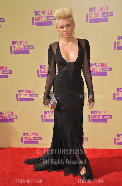 Miley Cyrus at the 2012 MTV Video Music Awards at Staples Center, Los Angeles..September 6, 2012  Los Angeles, CA.Picture: Paul Smith / Featureflash