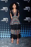 LOS ANGELES - JUN 25:  Yara Shahidi at the 2017 BET Awards - Press Room at the Microsoft Theater on June 25, 2017 in Los Angeles, CA