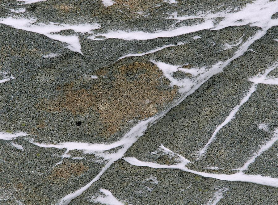 snow on granite