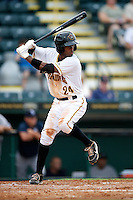 Bradenton Marauders Carlos Paulino #24 during a Florida State League game against the Tampa Yankees at McKechnie Field on July 19, 2012 in Bradenton, Florida.  Bradenton defeated Tampa 4-3.  (Mike Janes/Four Seam Images)