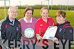 Mastergeeha FC officials l-r: Joe Doyle, Kathleen O'Leary, Ciara and Noreen Nagle who have organized a race night for the club in the Village Inn Kilcummin on May 1st at 9pm sharp..