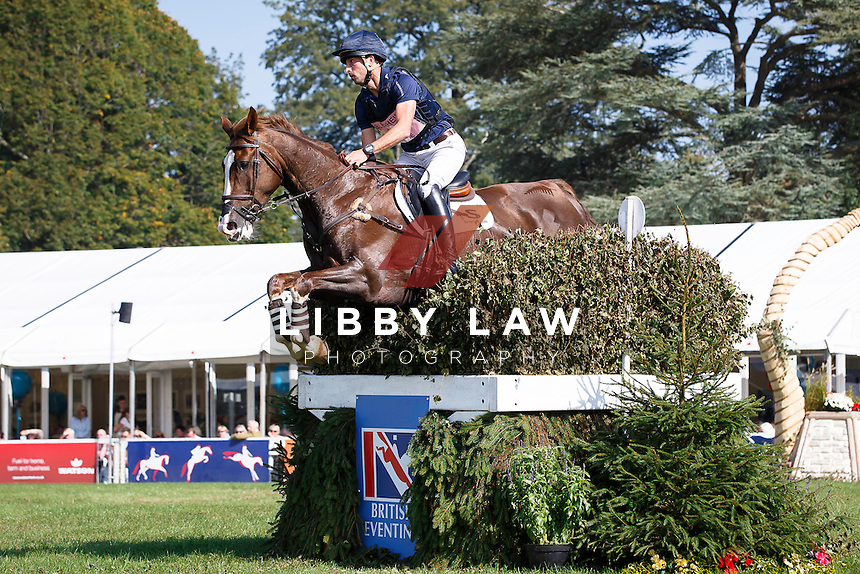 NZL-Tim Price (THE COURT JESTER) INTERIM-3RD: CCI3* CROSS COUNTRY: 2015 GBR-Blenheim Palace International Horse Trial (Saturday 19 September) CREDIT: Libby Law COPYRIGHT: LIBBY LAW PHOTOGRAPHY