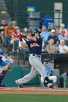 Salem Red Sox center fielder Andrew Benintendi (16) at bat during a game against the Myrtle Beach Pelicans at Ticketreturn.com Field at Pelicans Ballpark on April 29, 2016 in Myrtle Beach, South Carolina. Salem defeated Myrtle Beach 4-3. (Robert Gurganus/Four Seam Images)