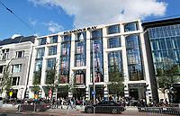 Nederland Amsterdam 2017. Het Rokin. Wegwerkzaamheden voor Hudson's Bay warenhuis. Foto Berlinda van Dam / Hollandse Hoogte