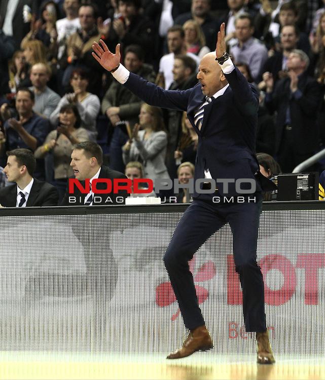 18.02.2015, O2 world, Berlin, GER, Beko BBL Pokal, ALBA Berlin vs. FC Bayern Muenchen , im Bild Cheftrainer Sasa Obradovic (ALBA Berlin)<br /> <br />               <br /> Foto &copy; nordphoto /  Engler
