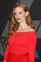 HOLLYWOOD, CA - NOVEMBER 11: Jessica Chastain at the AMPAS 9th Annual Governors Awards at the Dolby Ballroom in Hollywood, California on November 11, 2017. Credit: David Edwards/MediaPunch /NortePhoto.com