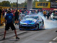 Sep 2, 2018; Clermont, IN, USA; NHRA pro stock driver Shane Tucker during qualifying for the US Nationals at Lucas Oil Raceway. Mandatory Credit: Mark J. Rebilas-USA TODAY Sports