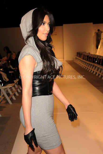 WWW.ACEPIXS.COM . . . . . ....February 16 2010, New York City....Designer Kim Kardashian at the Bebe - Kardashian Fall 2010 Fashion Show during Mercedes-Benz Fashion Week at Style360 on February 16, 2010 in New York City. ....Please byline: KRISTIN CALLAHAN - ACEPIXS.COM.. . . . . . ..Ace Pictures, Inc:  ..(212) 243-8787 or (646) 679 0430..e-mail: picturedesk@acepixs.com..web: http://www.acepixs.com