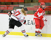 Ginny Berg (NU - 17), Jonnie Bloemers (BU - 11) - The Northeastern University Huskies defeated the Boston University Terriers in a shootout after being tied at 4 following overtime in their Beanpot semi-final game on Tuesday, February 2, 2010 at the Bright Hockey Center in Cambridge, Massachusetts.