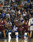Nevada forward Jordan Caroline shoots the ball against Little Rock in the second half of an NCAA college basketball game in Reno, Nev., Friday, Nov. 16, 2018. (AP Photo/Tom R. Smedes)
