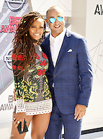 LOS ANGELES, CA - JUNE 26: Eva Marcille, Michael Sterling at the 2016 BET Awards at the Microsoft Theater on June 26, 2016 in Los Angeles, California. Credit: Koi Sojer/MediaPunch