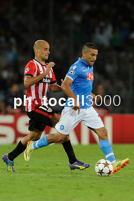 Mikel Rico of Athletic and Walter Gargano during the match between SSC Napoli and Athletic Club Bilbao, play-offs First leg Champions League at the San Paolo Stadium onTuesday August 19, 2014 in Napoli, Italy. (Photo by Marco Iorio)<br /><br /><br /> <br /><br /><br /><br /><br /><br /><br /><br /><br /><br /><br /><br /><br /><br /><br /><br /><br /><br /><br /><br /><br /><br /><br /><br /><br /><br /><br /><br /><br /><br /><br /><br /><br /><br /><br /><br /><br /><br /><br /><br /><br /><br /><br /><br /><br /><br /><br /><br /><br /><br /><br /><br /><br /><br /><br /><br /><br /><br />)