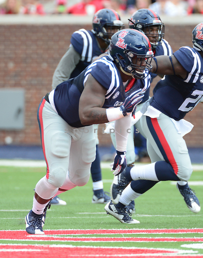 Ole Miss Rebels Channing Ward (11) during a game against the New Mexico State Aggies on October 10, 2015 at Vaught-Hemingway Stadium  in Oxford, MS. Ole Miss beat New Mexico State 52-3.