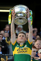 Kerry minors celebrate the team's victory over Donegal in the All-Ireland Football Final  in Croke Park 2014.<br /> Photo: Don MacMonagle<br /> <br /> <br /> Photo: Don MacMonagle <br /> e: info@macmonagle.com