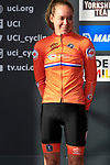 Anna Van Der Breggan (NED) finishes in 2nd place at the end of the Women Elite Road Race of the UCI World Championships 2019 running 149.4km from Bradford to Harrogate, England. 28th September 2019.<br /> Picture: Eoin Clarke | Cyclefile<br /> <br /> All photos usage must carry mandatory copyright credit (© Cyclefile | Eoin Clarke)