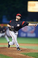 Richmond Flying Squirrels relief pitcher Phil McCormick (25) during a game against the Erie SeaWolves on May 27, 2016 at Jerry Uht Park in Erie, Pennsylvania.  Richmond defeated Erie 7-6.  (Mike Janes/Four Seam Images)