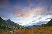 Sunset over MacMillin Pass, North Canol Road, Yukon.
