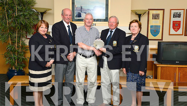 REPRO FREE -- Tralee Golf Club President Padraic Coughlan held his Presidents Golf Day at Tralee Golf Club . Joe Rodgers was the overall winner on the day . Pictured front L/Y Angela Deenihan Captain  ,  Joe McCarthy Captain , Joe Rodgers 1st place , Padraic Coughlin President Tralee Gol Club and Joan Kelly Lady President .  <br /> Photo By : Domnick Walsh / Eye Focus LTD &copy; <br /> Tralee Co Kerry Ireland <br /> Phone  Mobile 087 / 2672033<br /> L/Line 066 71 22 981 <br /> E/mail - info@dwalshphoto.ie<br />        www.dwalshphoto.com