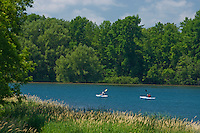 Kayaking on Long Sault Parkway o the St. Laurence River. McLaran Island. <br /> Near Ingleside<br /> Ontario<br /> Canada