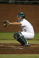February 20, 2010:  Catcher Brad Carlton (18) of the Stetson Hatters during the teams opening series at Melching Field at Conrad Park in DeLand, FL.  Photo By Mike Janes/Four Seam Images