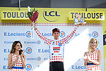 Tim Wellens (BEL) Lotto-Soudal retains the Yellow Jersey at the end of Stage 11 of the 2019 Tour de France running 167km from Albi to Toulouse, France. 17th July 2019.<br /> Picture: ASO/Alex Broadway | Cyclefile<br /> All photos usage must carry mandatory copyright credit (© Cyclefile | ASO/Alex Broadway)