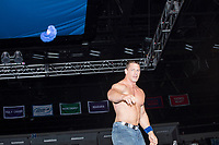 WWE superstar John Cena throws a wrist band to the crowd after winning his match against Rusev, The Bulgarian Brute, after their match WWE superstar John Cena throws a wrist band to the crowd after winning his match against Rusev, The Bulgarian Brute, after their match at a WWE Live Summerslam Heatwave Tour event at the MassMutual Center in Springfield, Massachusetts, USA, on Mon., Aug. 14, 2017. Rusev lost the match.  Rusev lost the match.